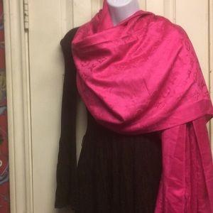 Authentic Louis Vuitton fuchsia pashmina scarf
